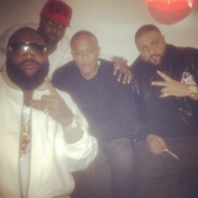 Dr Dre Gives Rick Ross $100,000 Hublot Watch For 36th B-Day[Video]